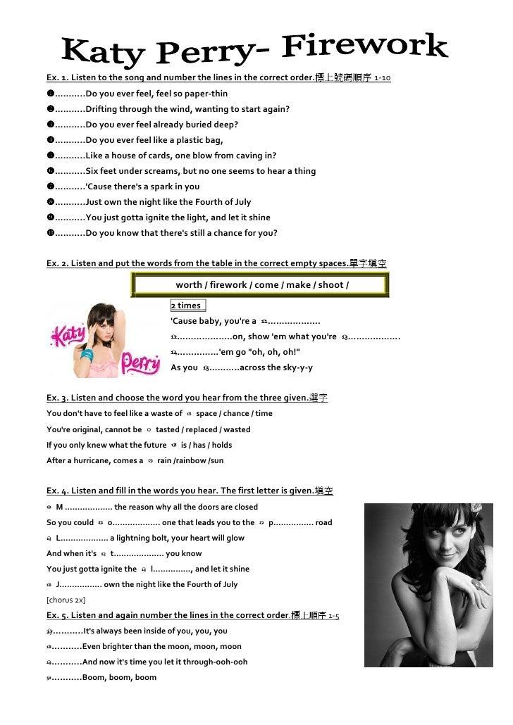 Firework by katy perry... Katy Perry Firework Lyrics