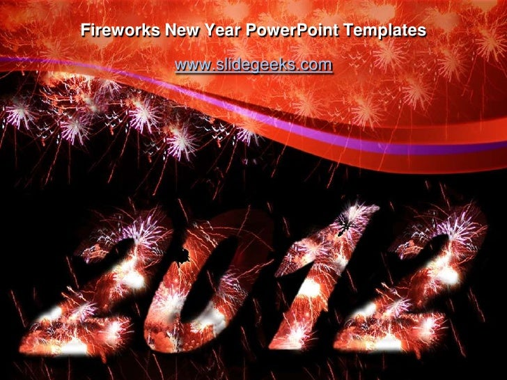 fireworks new year powerpoint templates