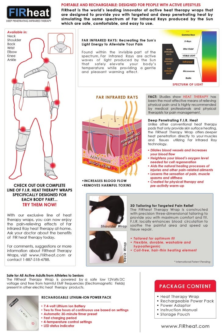 FIRHeat Rechargeable - Far Infrared Ray Heat Therapy Products