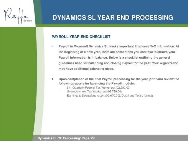 2012-01-04 Dynamics SL YE Processing