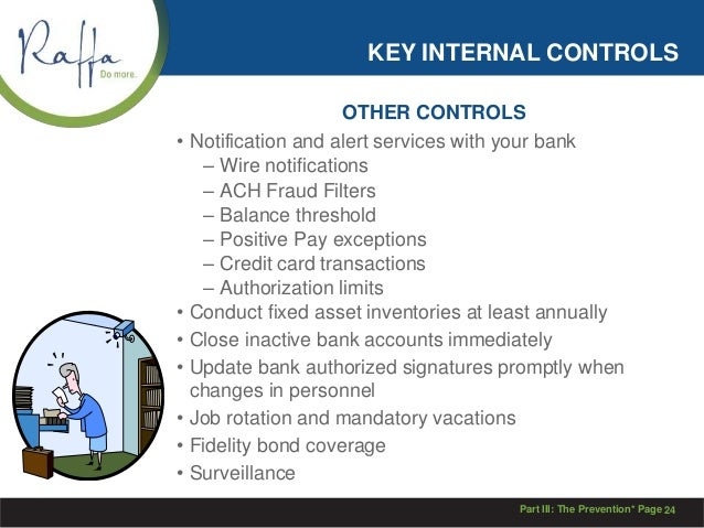 an analysis of internal accounting controls and fraud prevention How to spot & avoid accounting fraud  to commit fraud often arise from poor internal controls,  one hour consultation on fraud protection and prevention.