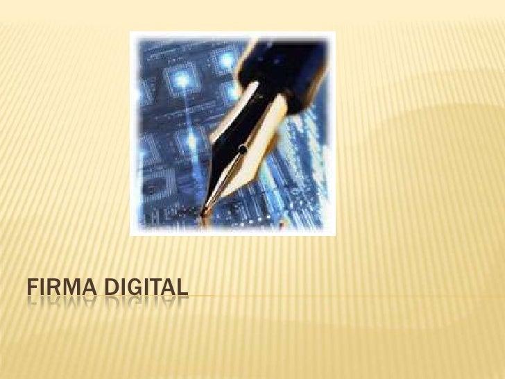 firma digital<br />