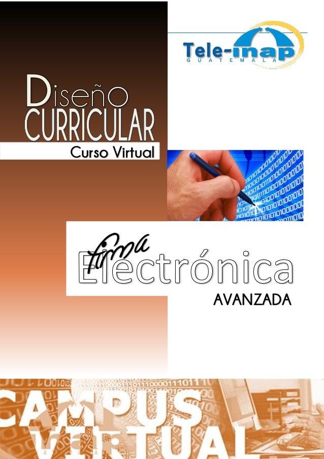 Instituto Nacional de Administración Pública Curso Virtual AVANZADA