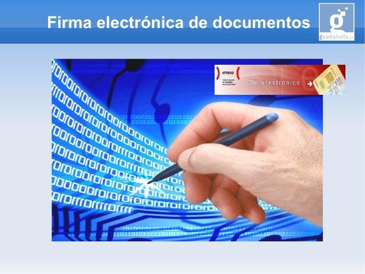 Firma electrónica de documentos
