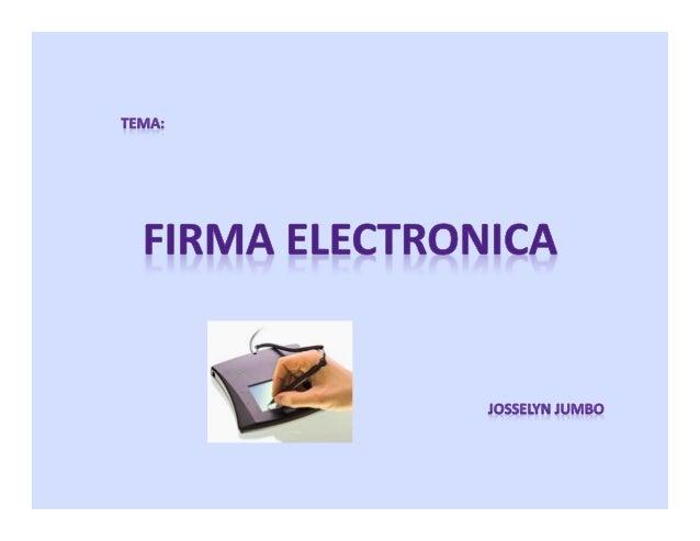 La firma electrónica es un concepto jurídico, equivalente electrónico al de la firma manuscrita, donde una persona acepta ...