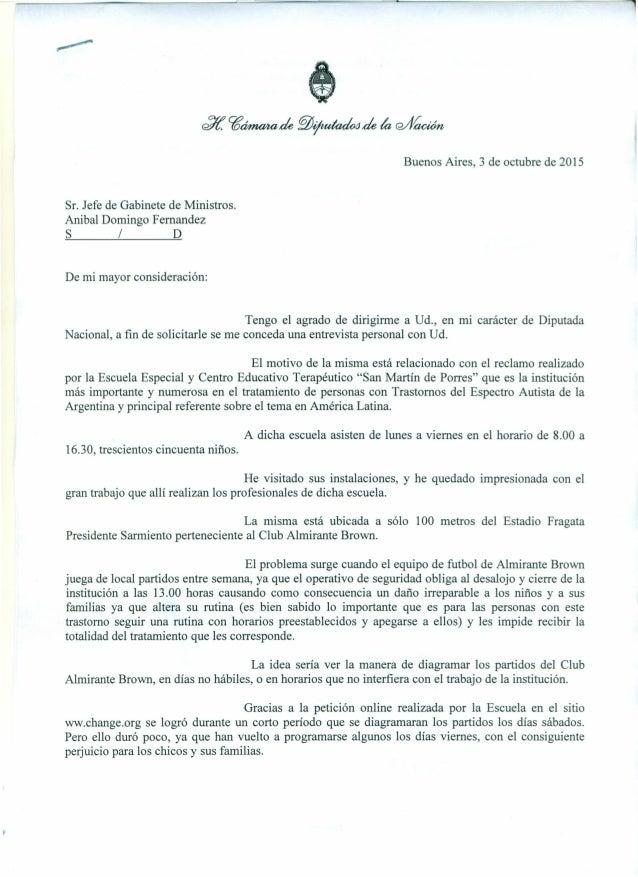 1 td/í. C(Jáma4ade ~~ de ~ C2/fíaa:ún Buenos Aires, 3 de octubre de 2015 Sr. Jefe de Gabinete de Ministros. Anibal Domingo...