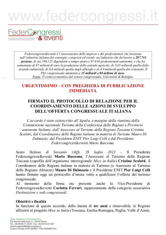 Federcongressi&eventi è l'associazione delle imprese e dei professionisti che lavorano nell'industria italiana dei convegn...