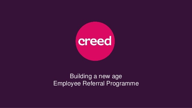Building a new age Employee Referral Programme