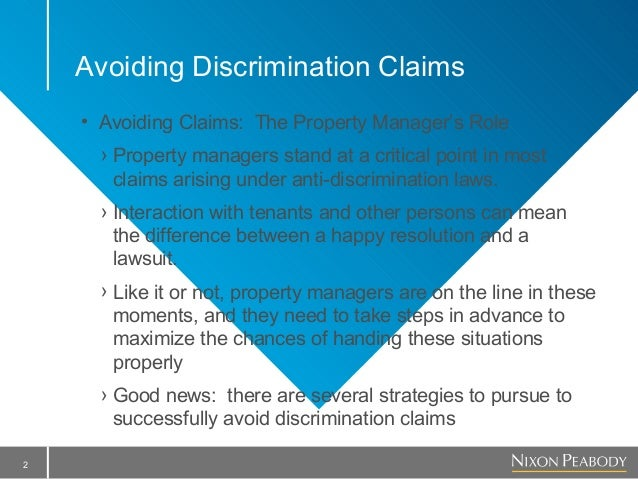 How to Avoid Discrimination Claims (without it hurting too much)