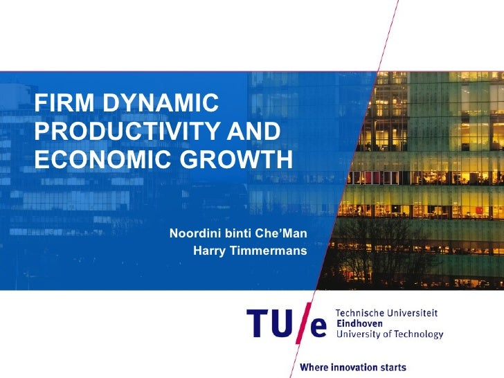 FIRM DYNAMIC PRODUCTIVITY AND ECONOMIC GROWTH Noordini binti Che'Man Harry Timmermans