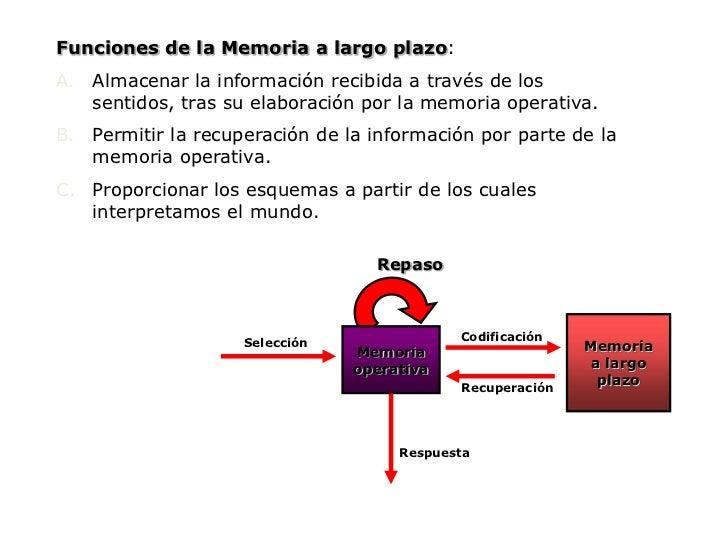 Repaso<br />Memoria<br />a largo<br />plazo<br />Codificación<br />Memoria<br />operativa<br />Selección<br />Recuperación...