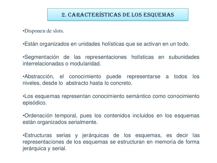 1. CONCEPTOS DE ESQUEMAS<br />RUMELHART<br />