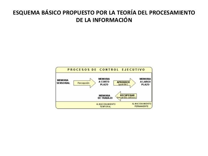 ESQUEMA BÁSICO PROPUESTO POR LA TEORÍA DEL PROCESAMIENTO DE LA INFORMACIÓN<br />