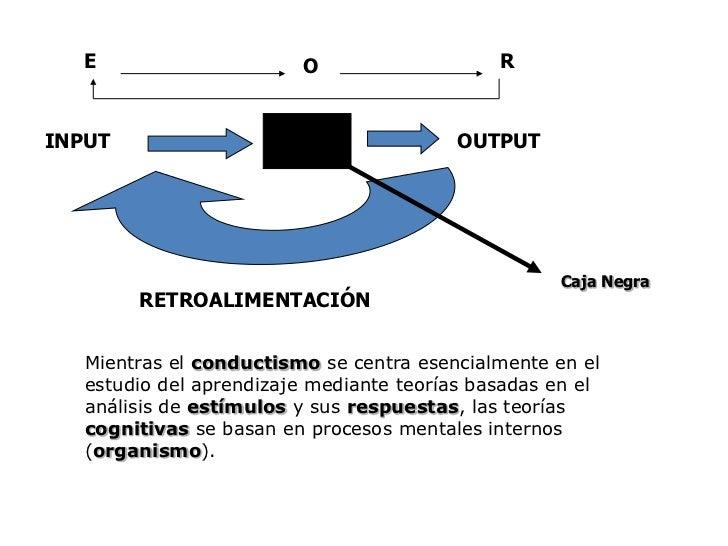 E<br />R<br />O<br />INPUT <br />OUTPUT<br />RETROALIMENTACIÓN<br />Caja Negra<br />Mientras el conductismo se centra esen...