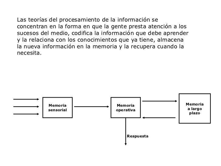 Respuesta<br />Las teorías del procesamiento de la información se concentran en la forma en que la gente presta atención a...