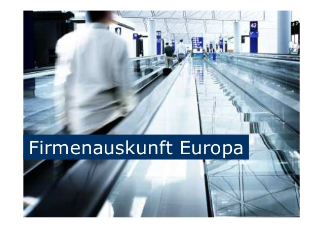 Firmenauskunft Europa