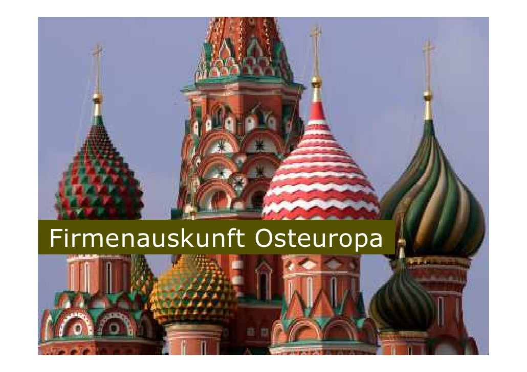 Firmenauskunft Osteuropa