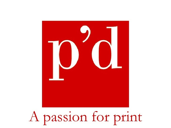 Firmendarstellung A passion for print