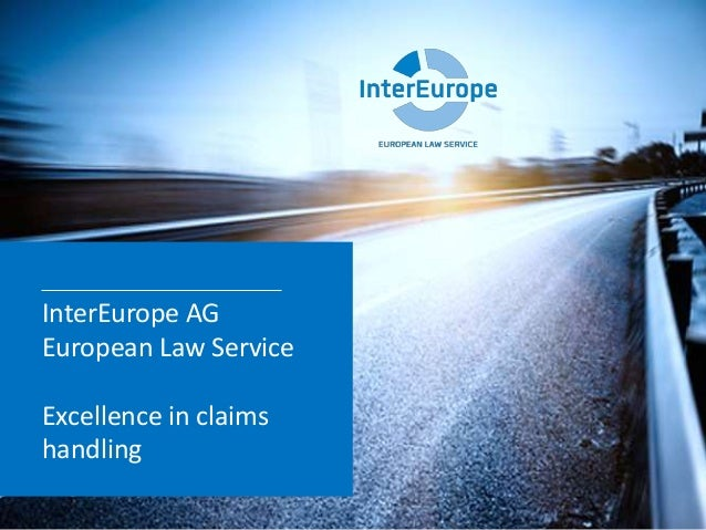 InterEurope AG European Law Service Excellence in claims handling