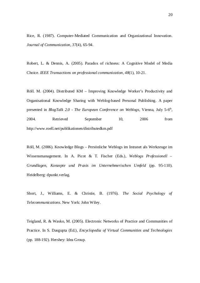 Computer mediated communication essay