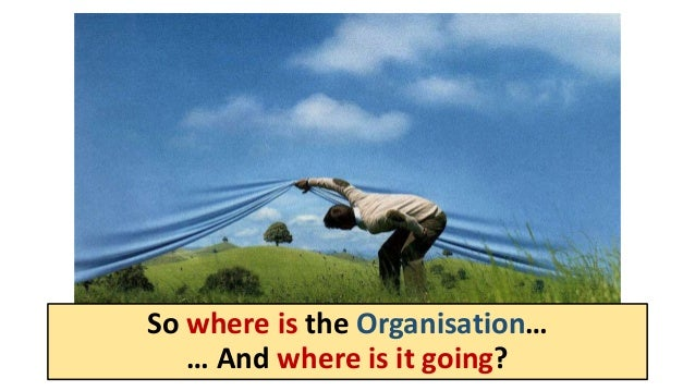 So where is the Organisation… … And where is it going?