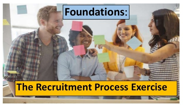 Foundations: The Recruitment Process Exercise
