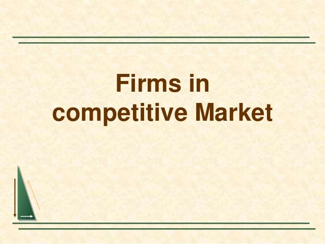 Firms in competitive Market
