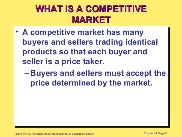 a competitive market is