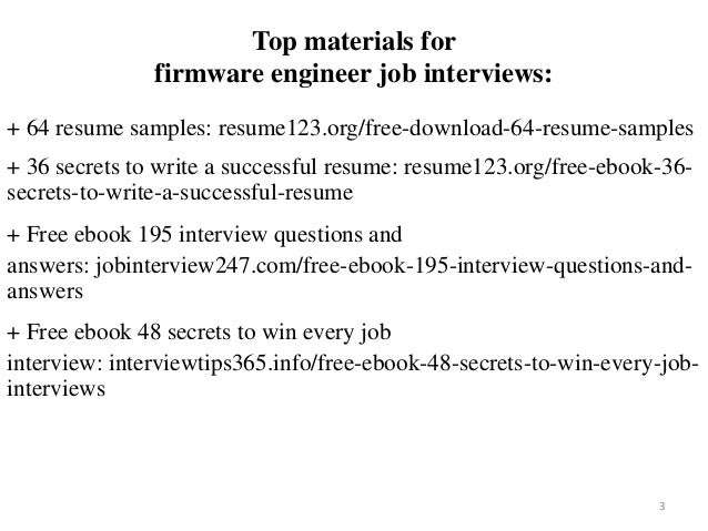 2 3 top materials for firmware engineer