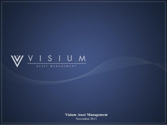 0 Visium Asset Management November 2011