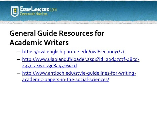 Free academic writing resources