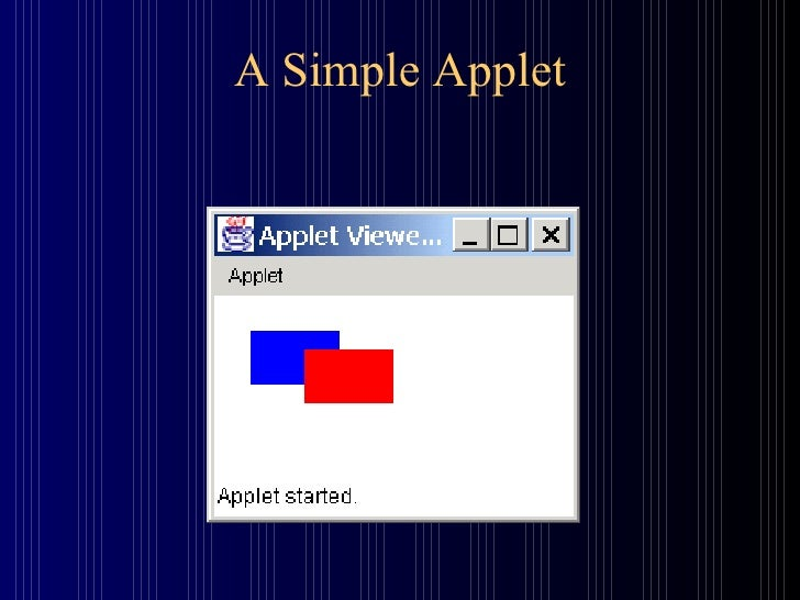 A Simple Applet