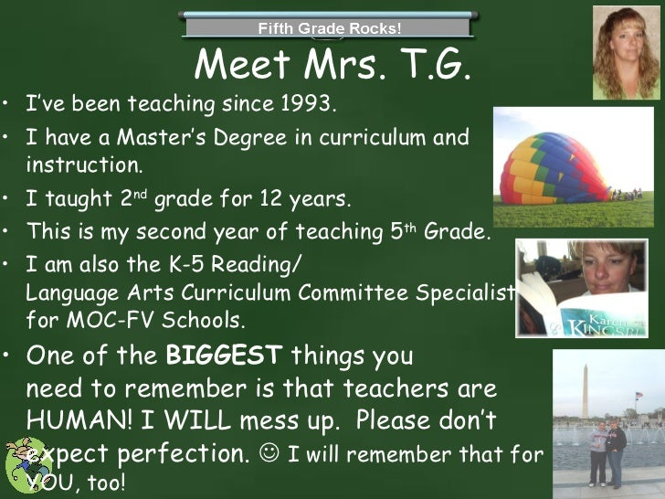 First Day Powerpoint Expectations