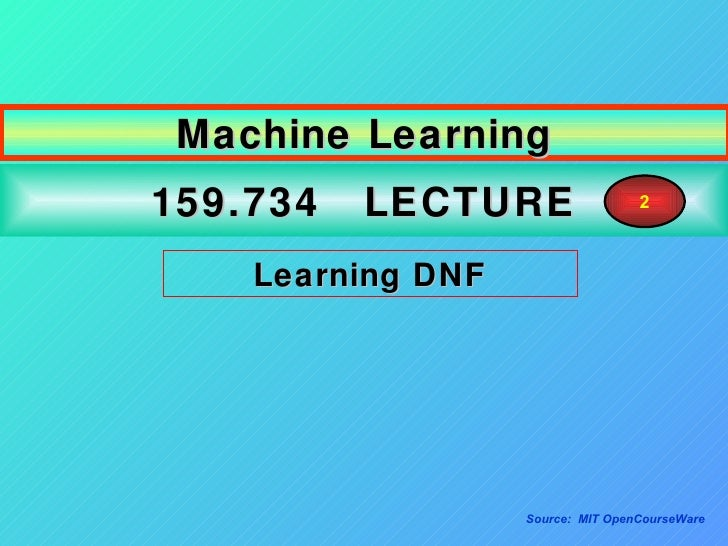 opencourseware machine learning