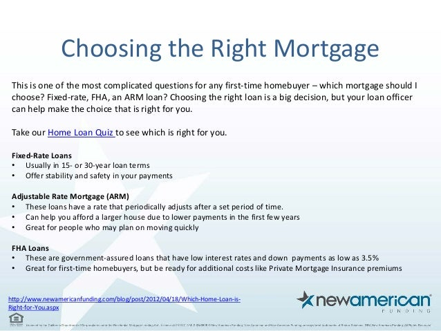 6 choosing the right mortgage