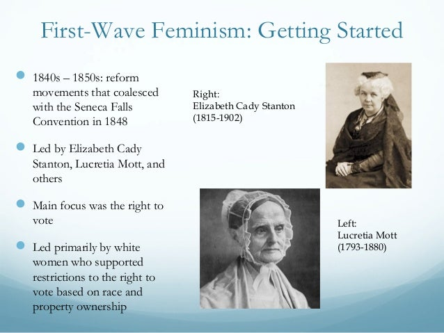 the three waves of feminism The first wave of feminism took place in the late 19th and early 20th centuries, emerging out of an environment of urban industrialism and liberal, socialist politics.