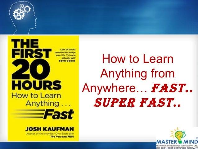 The First 20 Hours Josh Kaufman Pdf