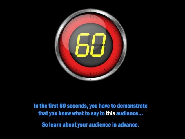 Nail the First 60 Seconds of Your Presentation
