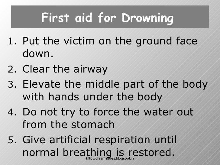 drowning first aid response essay Drowning is the leading cause of injury-related death among children ages 1 to 4 -- and the second-leading cause of death in children 14 and under.