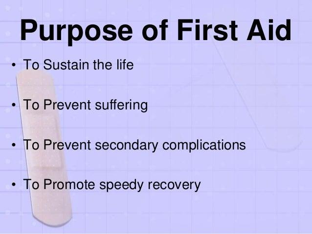 First aid Slide 3