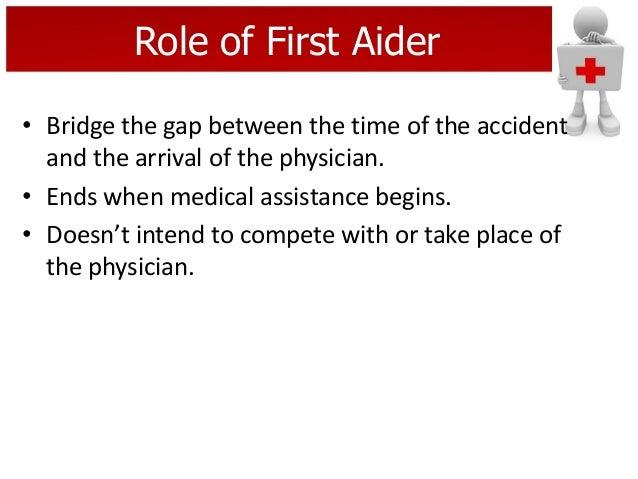 first aid demonstration speech