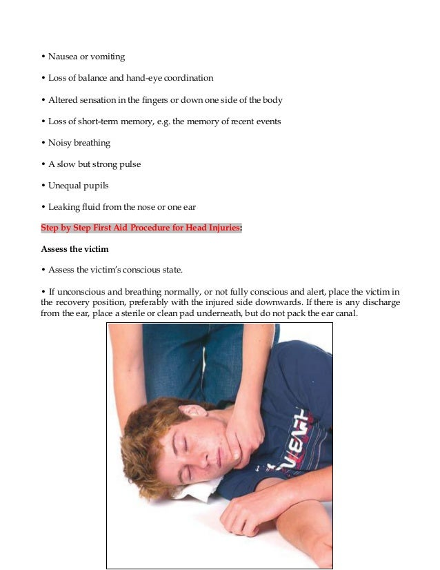 First Aid For Head Injuries - WHS First Aid Kits