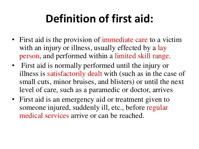 CPR / First Aid / AED