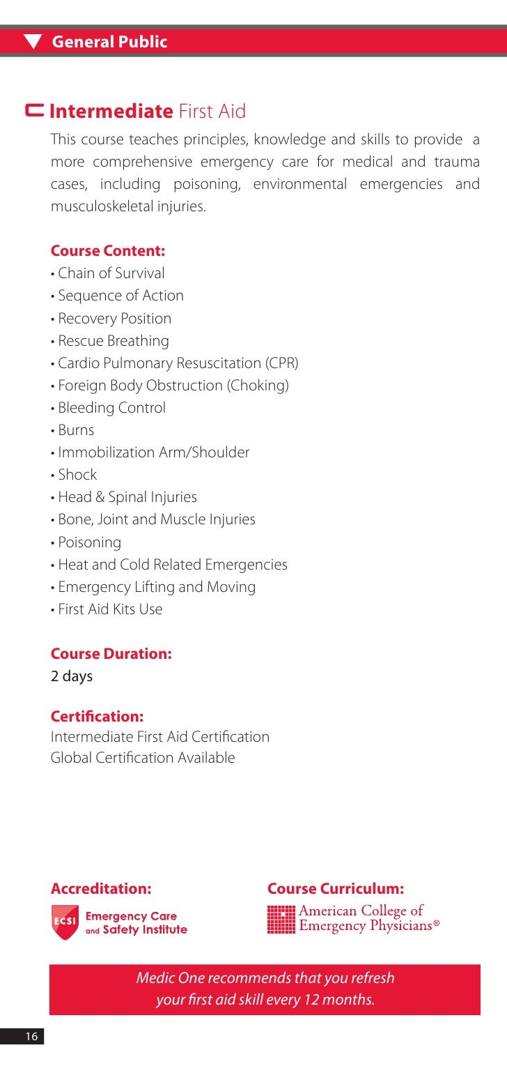 first aid training booklet pdf