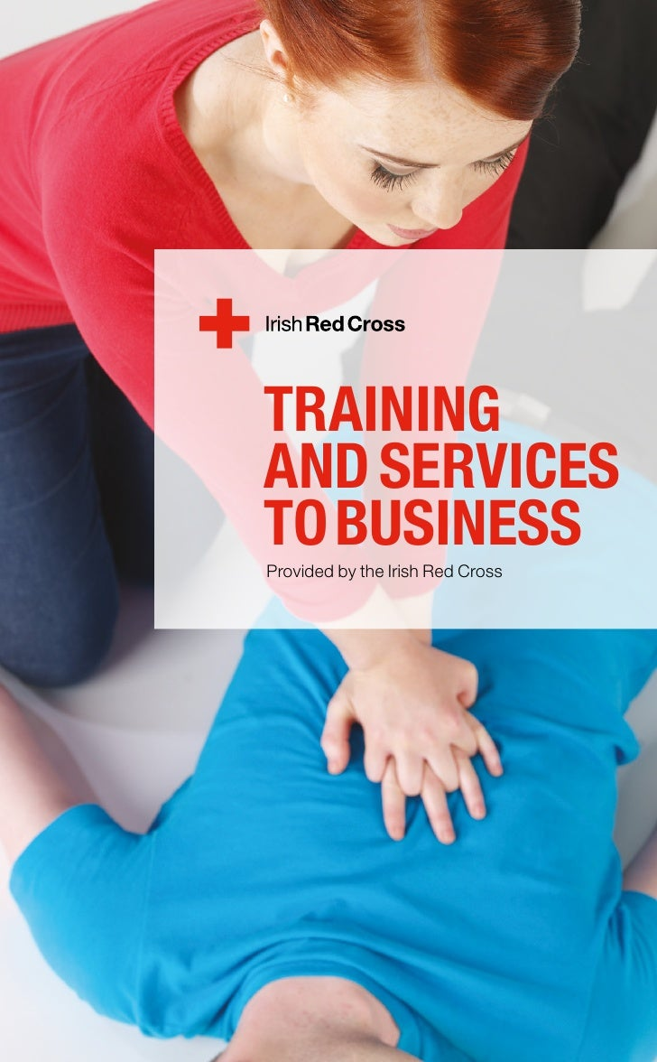 First aid training brochure first aid training brochure trainingand servicesto businessprovided by the irish red cross xflitez Choice Image