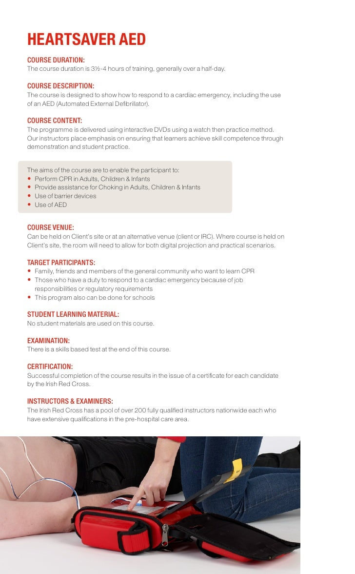First Aid Training Brochure