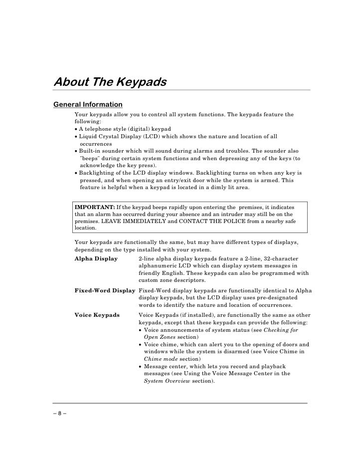 First Alert Keypad Owners Manual User Guide Manual That Easy To Read