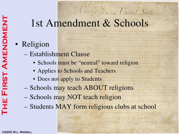 17 1st Amendment Schools
