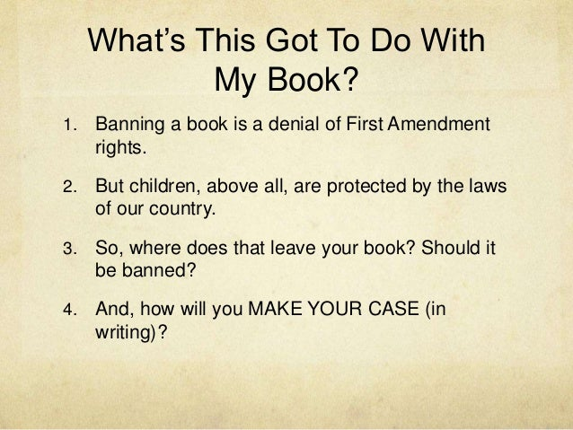 censorship and the first amendment essay Freedom of speech was established in the first amendment of the united states   take a stand against censorship and even improve literacy rates() by.