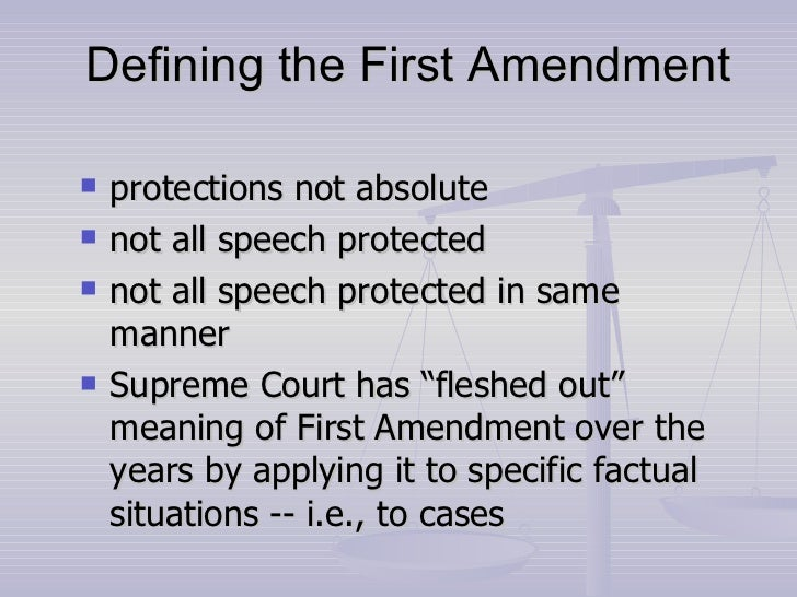 why is the first amendment important